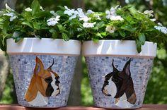 Mosaic Dog Pots - Delphi Artist Gallery