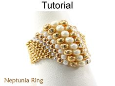 Beading Tutorial Pattern Beaded Ring Peyote por SimpleBeadPatterns