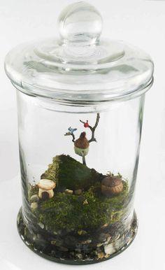 How to Create an Enchanted Miniature Moss Garden Terrarium.