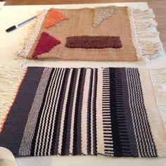 Amostras de tecidos para tapete feitas em 2015 por Nadia Rezende.
