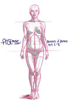ebook - gumroad.com/posemuse book - www.posemuse.com #pose reference #figuredrawing #ebook #poses #stock #female #model #drawing #figure #gesture art by Justin Martin