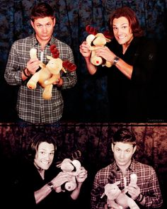#supernatural #moose, too cute these two