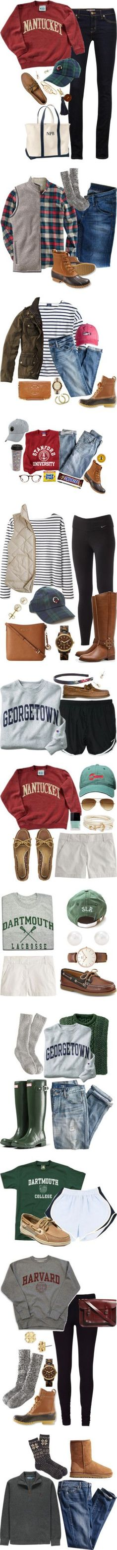 """The Casual New England Prep"" by preppy Adrette Outfits, Preppy Outfits, College Outfits, Preppy Clothes, Party Clothes, Winter Clothes, Fashion Outfits, Fall Winter Outfits, Winter Wear"