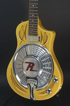 Antiqued Amistar Stager acoustic/electric resonator tenor guitar ...