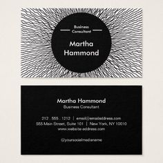 Impossible to Ignore_Black hole Business Card - consultant business job profession diy customize