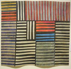 Helene Davis, Flags juried into Quilts=Art=Quilts 2014. Simplicity with a subtle palette gives this piece a timeless quality.