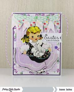 Jeanne Jachna: A Kept Life – Creative Blog Hop! - 3/5/15.  (Pretty Little Studio: Die-Cut image  Esther. Stamp: Waltzingmouse Spring Baskets).  (Pin#1: Easter: Bunnies.  Pin+: Easter: Vintage).