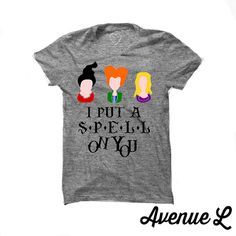 Hocus Pocus Tees Sanderson SIsters Grey by TheAvenueL on Etsy