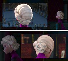 The Back of Elsa's Coronation Hairstyle Frozen Queen, Queen Elsa, Elsa Frozen, Disney Frozen, Frozen Cosplay, Elsa Cosplay, Frozen Costume, Disneyland Princess, Disney Princess