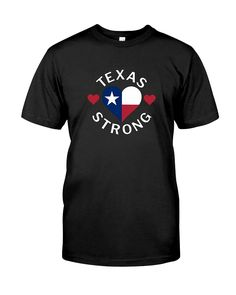 "CHECK OUT OTHER AWESOME DESIGNS HERE!  Texas Strong Hurricane Harvey Heart 2017 Tee Shirt. Order a Size Up for a Looser Fit.  To see more Hurricane Harvey Shirts, just click on the blue label ""Hurricane T-Shirts"" above the product name. Hurricane Harvey, Category 4, hit the Coast of Texas at San Jose Island on August 25, 2017."