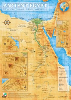 Ancient Egyptian Map - Ancient Egypt Photo (37472440) - Fanpop