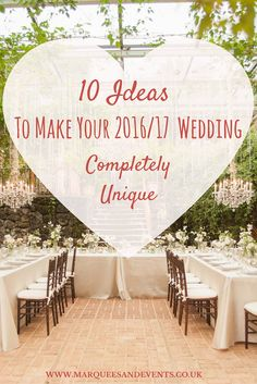 No one wants the cookie-cut wedding – so to help inspire you to think outside the box, we've uncovered 10 wonderful ideas to make your nuptial celebrations completely, and utterly, unique! Here are a few ways you might get creative… 1. A DIY Cocktail Bar This is an incredibly fun way to get your guests …
