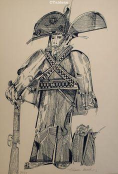 Aldemir Martins. Cangaceiro. Litografia. 45x30 cm