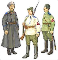 1. Sierżant Zabajkalskiego Dywizjonu Artylerii 2. Szeregowy i oficer Zabajkalskiego Pułku Piechoty