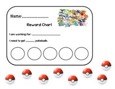This is a Pokemon Reward Chart. Students can work towards a goal and earn Pokemon balls to earn a reward after meeting their goal. School Classroom, Classroom Themes, Classroom Organization, Classroom Management, Behavior Interventions, Behaviour Chart, School Themes, School Ideas, Pokemon Party