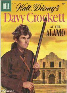 Davy Crockett-Walt Disney Dell comic...I had this exact cover comic as a boy but alas tis gone