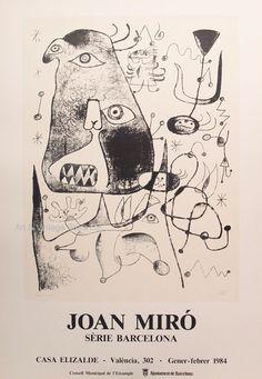 Joan Miró Original Artist Poster 1984 – Art & Vintage Store Ltd Spanish Painters, Spanish Artists, Museum Poster, Creative Poster Design, Poster Design Inspiration, Exhibition Poster, Vintage Posters, Fine Art Prints, Poster Prints