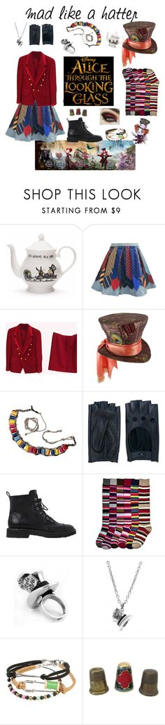 """""""Mad like a hatter 🎉👒♣️"""" by madelinestylecreativity ❤ liked on Polyvore featuring MPJ, Zanellato, Giuseppe Zanotti, Disney Couture, Disney, contestentry and DisneyAlice"""