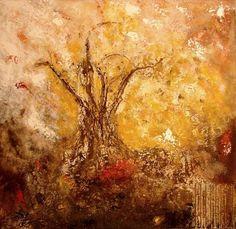 l'arbre de vie - Peinture,  80x80 cm ©2010 par Sophine sculptures -                                                            Peinture contemporaine, Toile, Arbre, tableau art contemporain abstrait représentant un arbre