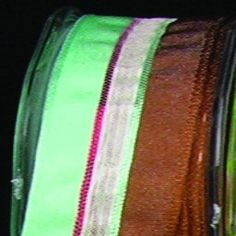 Brown and Turquoise Narrow Taffeta with Sheer White Stripe Wired Craft Ribbon 22mm x 108 Yards -- Additional details @ http://www.amazon.com/gp/product/B012HF8WNW/?tag=christmasdecor1-20&pde=250816213036