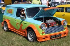 Scooby-Doo Mystery-Machine Mini Van- This makes me smile