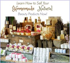 Do you want to sell homemade products you make? Use these tips from someone who has been making, using, and selling natural beauty products for years! products How To Sell Homemade Products: Health and Beauty Edition Beauty Secrets, Beauty Hacks, Beauty Tips, Beauty Ideas, Homemade Beauty Products, Natural Products, Natural Soaps, Beauty Routines, Handmade Soaps