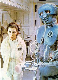 Leia and medical droid.