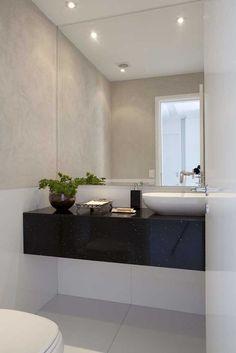 Black Granite, Decoration, Art Deco, New Homes, Mirror, Bathroom, House, Hall Entrada, Furniture