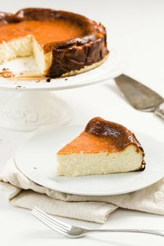 Easy Cheesecake Recipes, Dessert Recipes, Basque Cake, Chocolate Orange Cheesecake, Candied Orange Slices, Decadent Food, Easy Sweets, Oven Cooking, Just Desserts