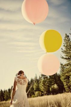 Giant balloons in blush