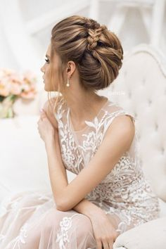 Featured Wedding Hairstyle: Elstile; www.elstile.ru