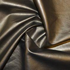 Dark Gold Leather Look Fabric (8436)