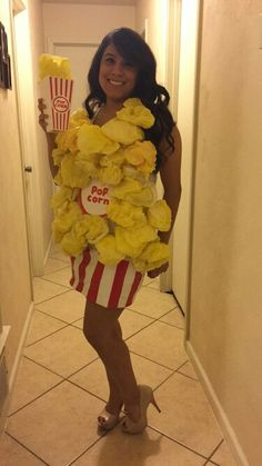 Homemade popcorn costume                                                                                                                                                     More