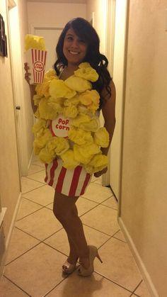 Homemade popcorn costume                                                                                                                                                     More