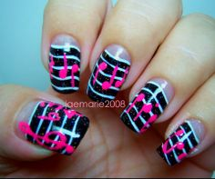 Music Notes Nail Design By JaeMarie2008 Tutorial click here: https://www.youtube.com/watch?v=MasxcLoB5Kg