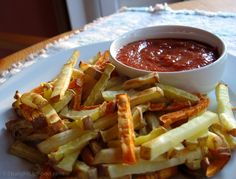 Salt-Free Ketchup and Baked French Fries