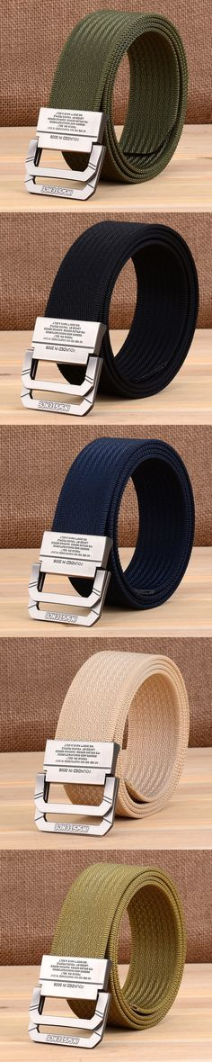 2017 Military Camouflage Equipment Tactical  Belt Man Double Ring Buckle Thicken Canvas Army Belts for Men Waistband large size