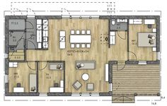 Small House Design, Small House Plans, Future House, Sweet Home, Floor Plans, Layout, Cabin, Flooring, How To Plan
