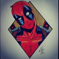 Can someone just paint over me already? Deadpool Tattoo, Deadpool Art, Marvel Drawings, 3d Drawings, Marvel Art, Marvel Heroes, Comic Tattoo, Marvel Tattoos, Marvel Wallpaper