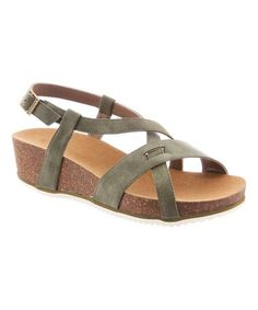 Loving this Olive Diana Wedge Sandal - Women on #zulily! #zulilyfinds