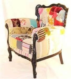 Colorful Chairs Design With An Exciting Fabrics By Kelly Swallow