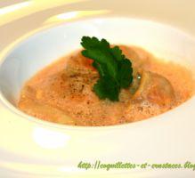 Recette - Raviole de langoustine et sa bisque émulsionnée... - Proposée par 750 grammes