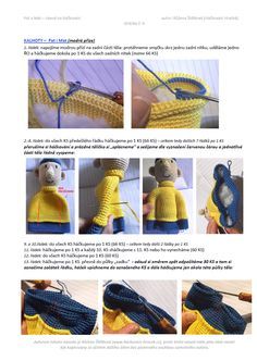 Pat a Mat | Návody na háčkované hračky Crochet Doll Pattern, Crochet Toys, Crochet Baby, Crochet Patterns, My Pat, Diy Crafts, Sewing, Crochet Dolls, Author