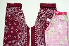 Over The Apple Tree: Bandanna Pants Baby Sewing Projects, Sewing Patterns For Kids, Sewing For Kids, Sewing Crafts, Sewing Kids Clothes, Clothes Crafts, Barbie Clothes, Diy Clothing, Clothing Patterns