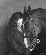 Helen & Pappy. charcoal drawing.