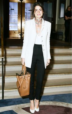5 Slimming Style Rules Almost Every Celebrity Follows via @WhoWhatWear • On Leandra Medine: Chanel blazer.