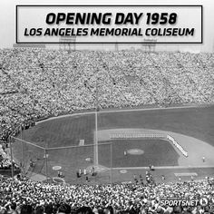 1958 Opening Day Dodger game at the Coliseum