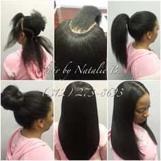 Neatest Sew-In Installs ever!!!!! Call or text me today to schedule your appointment! (312) 273-8693.....PERFECT PONY SEW-IN HAIR WEAVES by Natalie B. (312) 273-8693...IG: @iamhairbynatalieb...FACEBOOK: Hair by Natalie B. .....ORDER HAIR: www.naturalgirlhair.com.