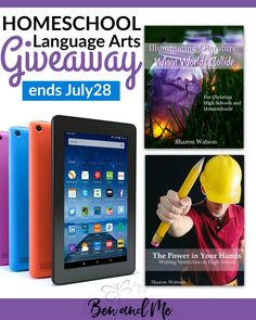 This homeschool language arts giveaway includes a literature curriculum, high school writing curriculum, and an Amazon Fire tablet!