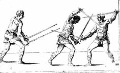 An illustration featuring the use of two swords from Camillo Agrippa's Treatise on the Science of Arms and Philosophy (1553)